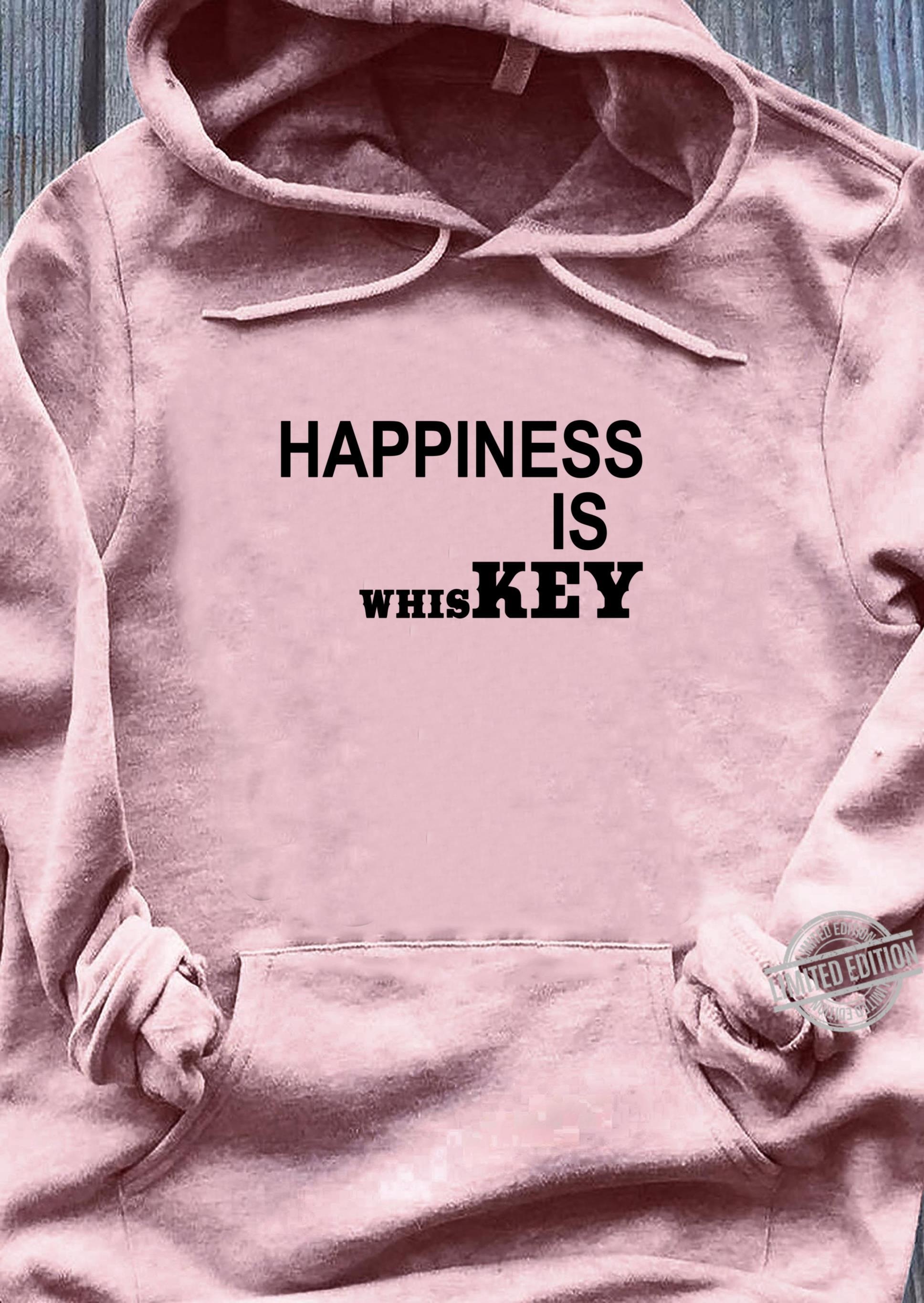 Happiness is Whiskey Shirt,Funny Life Happens Bourbon Helps Shirt ladies tee