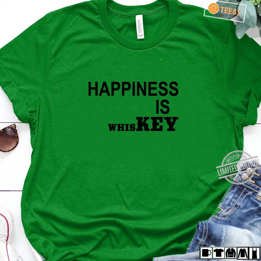 Happiness is Whiskey Shirt,Funny Life Happens Bourbon Helps Shirt long sleeved
